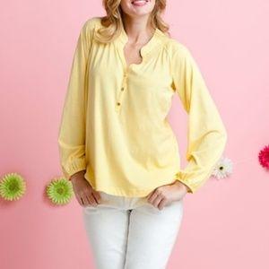 Lilly Pulitzer Yellow Elsa Blouse